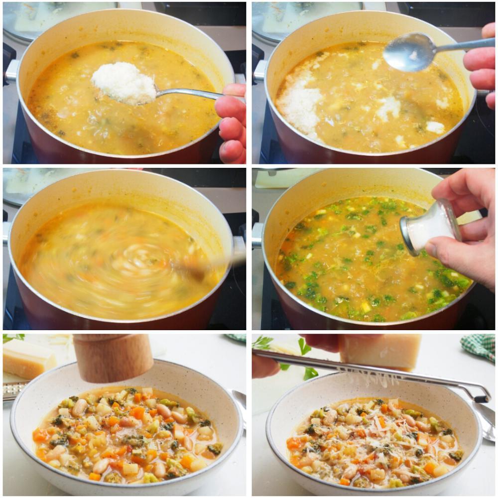Sopa minestrone italiana - Paso 8