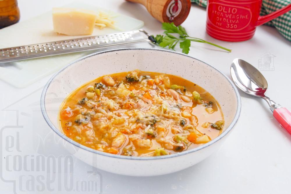 Sopa minestrone italiana - Paso 9