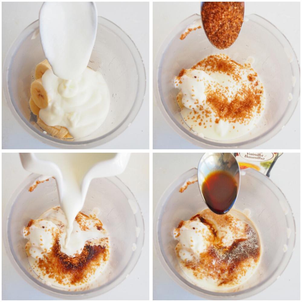 Crema de plátano, galletas de chocolate y naranja - Paso 2