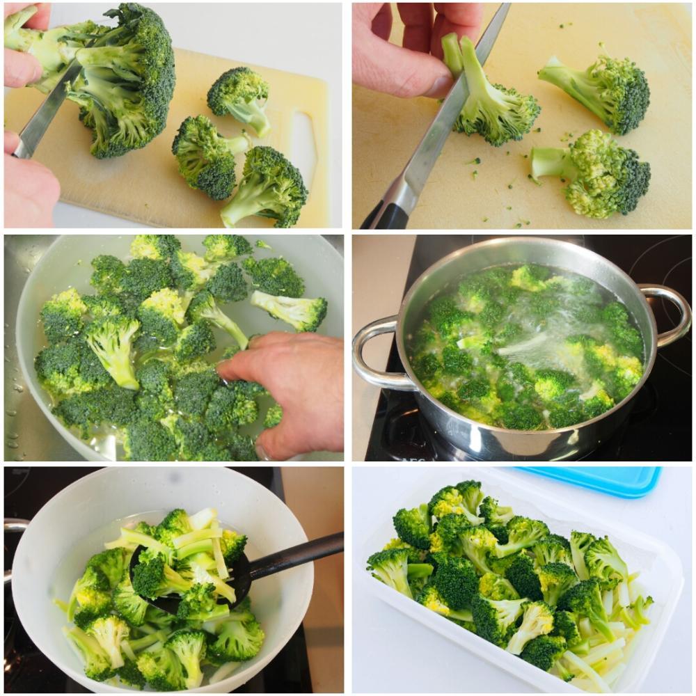 Brócoli al horno con queso - Paso 1