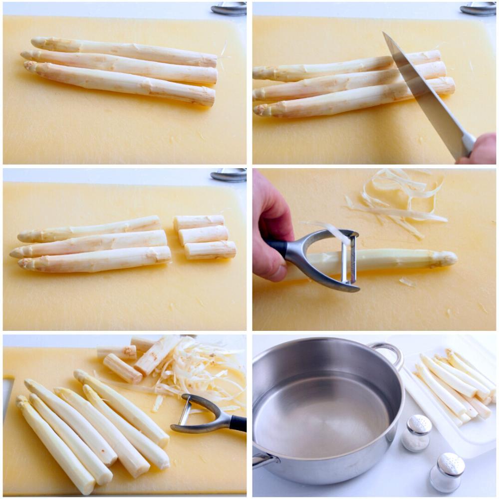 Cómo cocer espárragos blancos - Paso 1