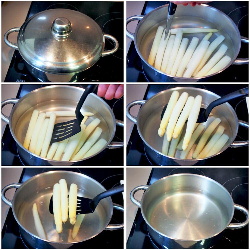 Cómo cocer espárragos blancos - Paso 3