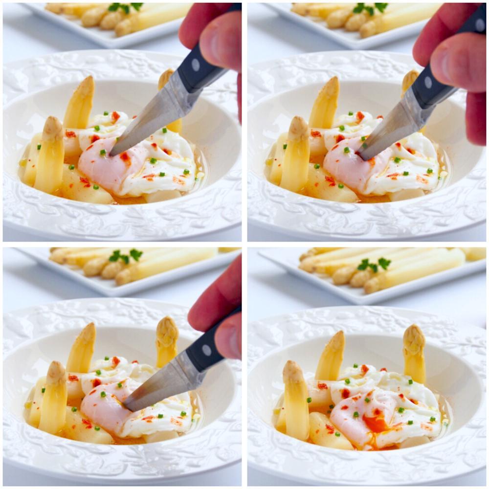 Espárragos blancos con huevo escalfado  - Paso 5