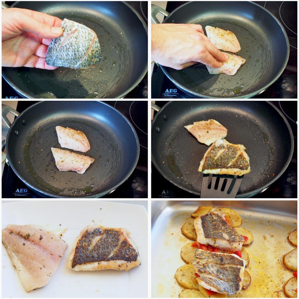 Sargo al horno con patatas - Paso 7
