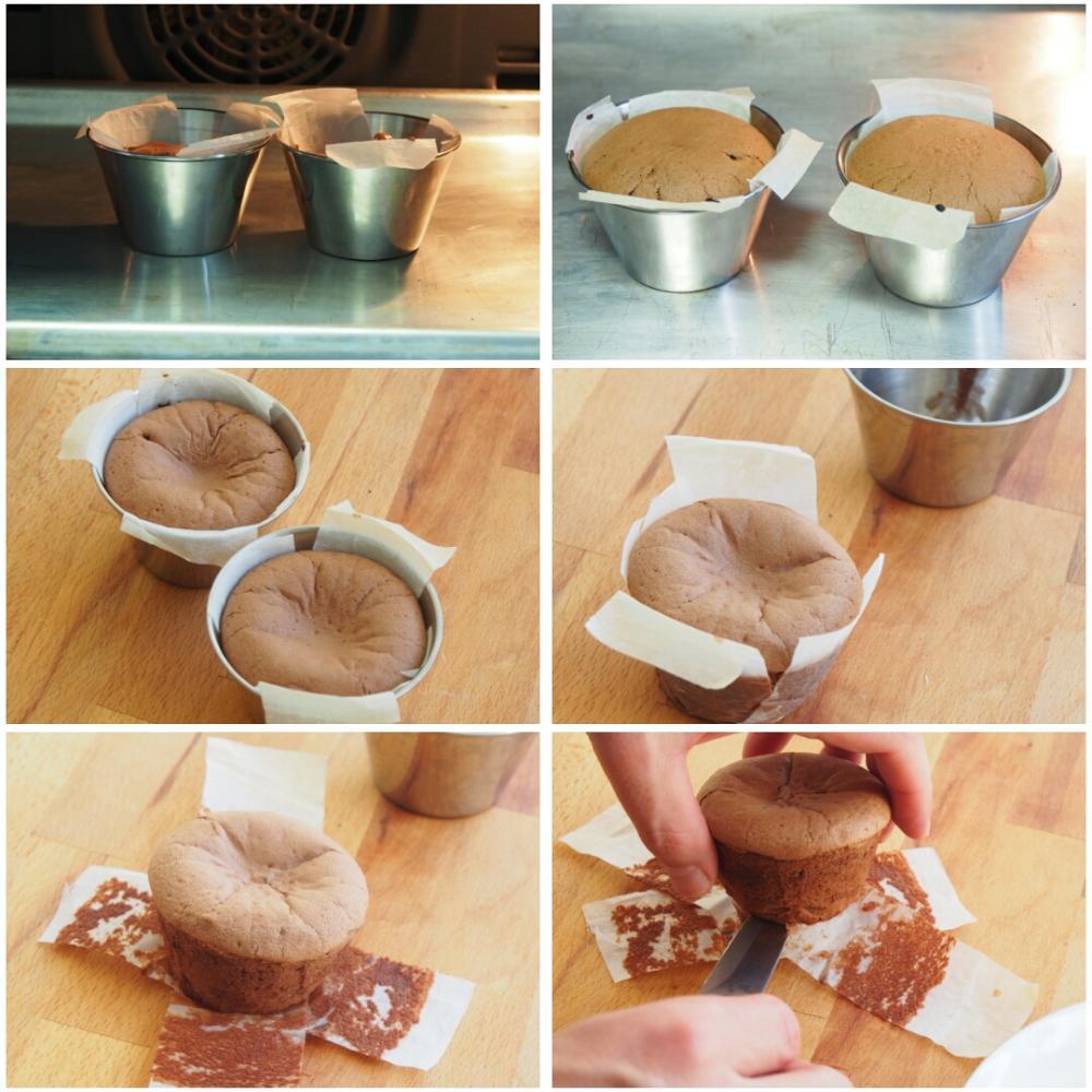 Coulant de chocolate - Paso 8