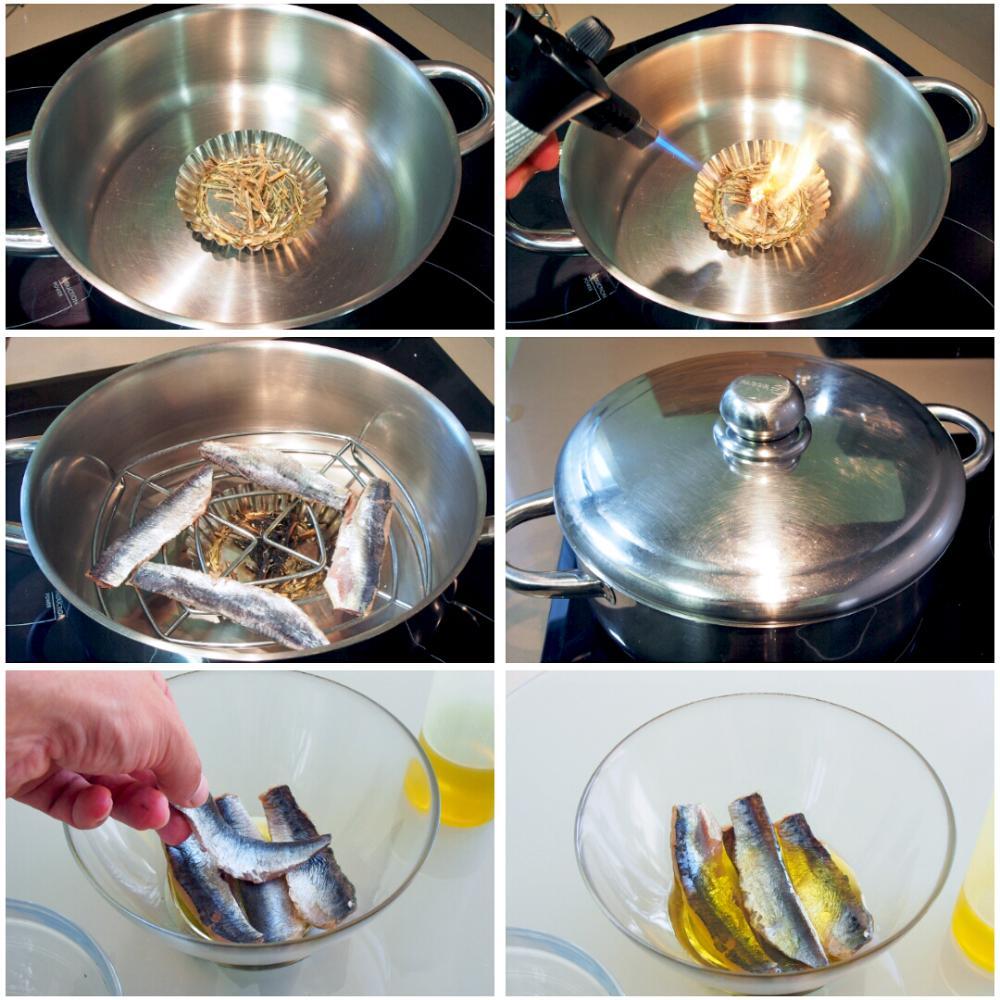 Ensalada de sardina ahumada y Queixo do Cebreiro - Paso 6