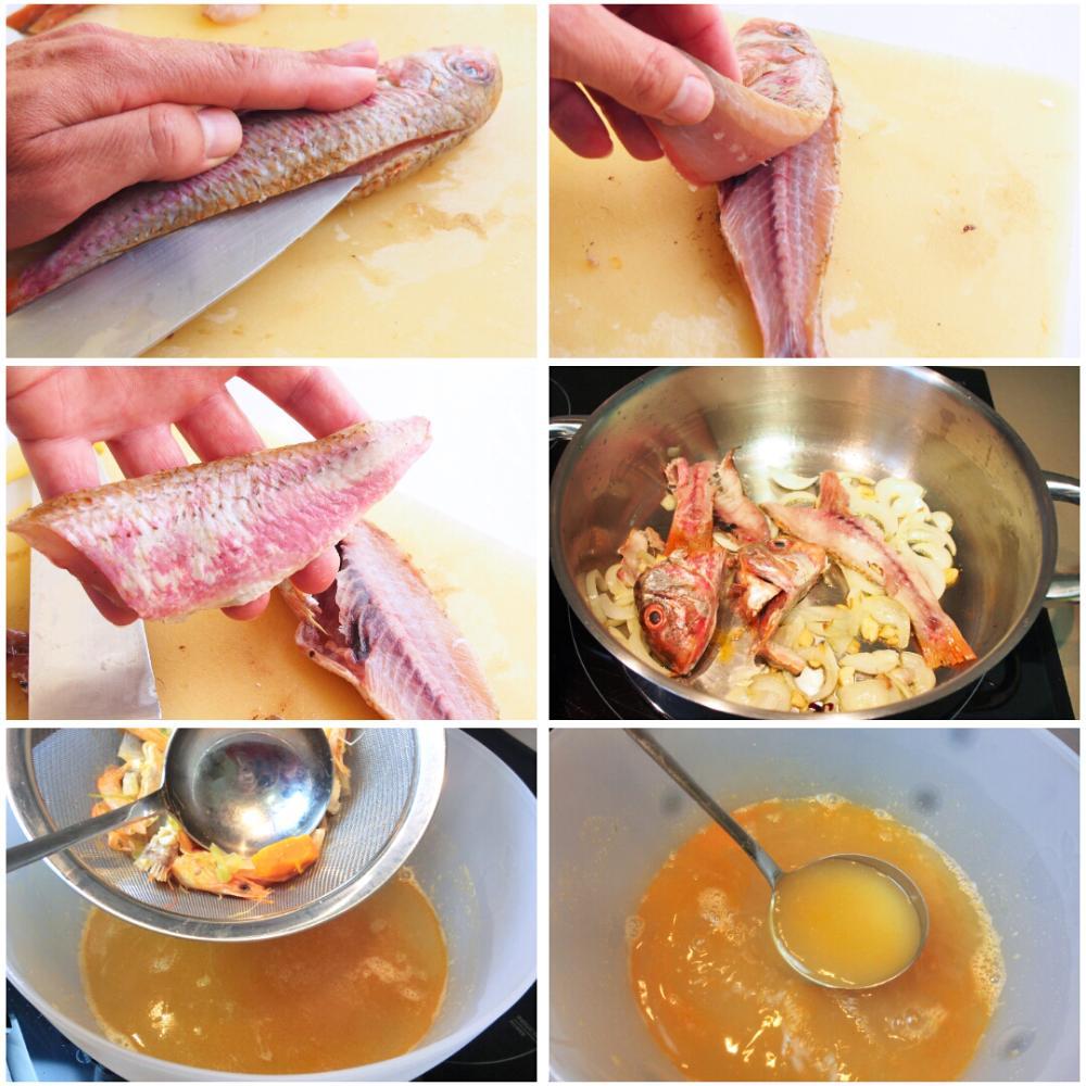 Arroz con salmonetes - Paso 2