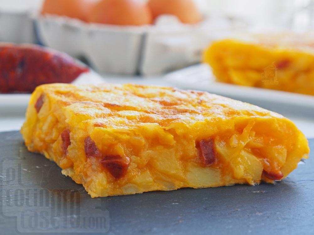 Tortilla de patata con chorizo - Paso 6