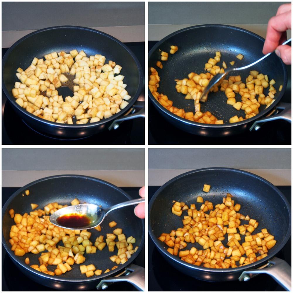 Mousse de requesón con manzana caramelizada - Paso 4