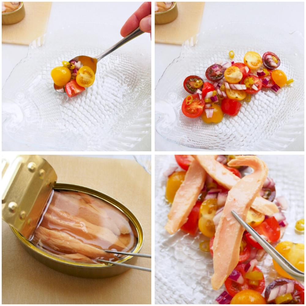 Ensalada de ventresca y tomate - Paso 4