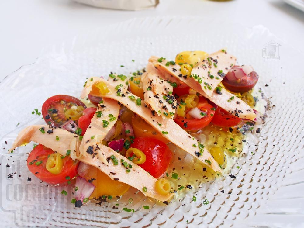 Ensalada de ventresca y tomate - Paso 6