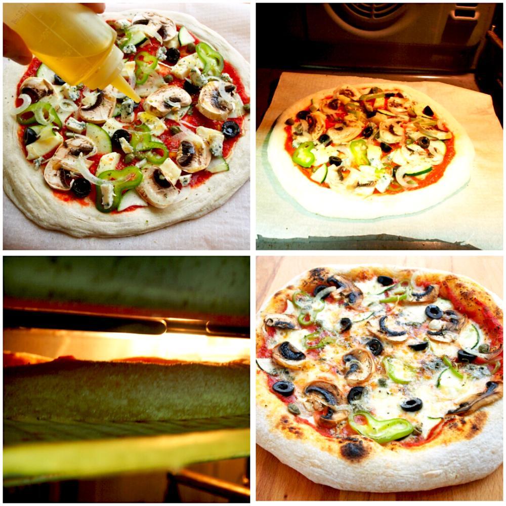 Pizza vegetal con queso azul - Paso 5
