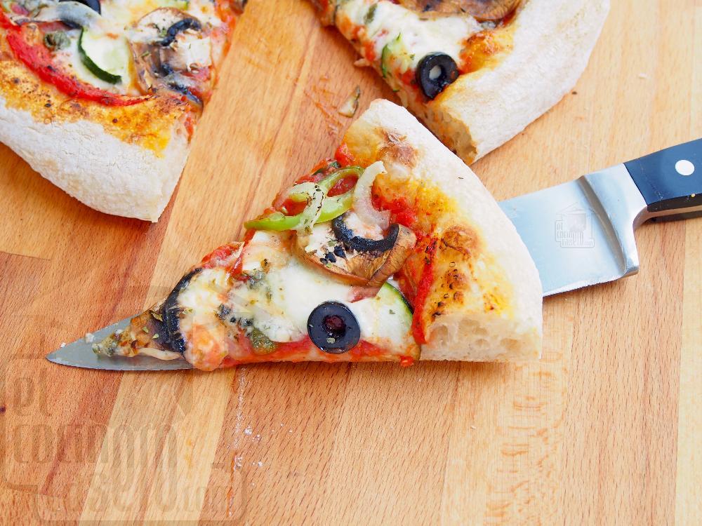 Pizza vegetal con queso azul - Paso 6