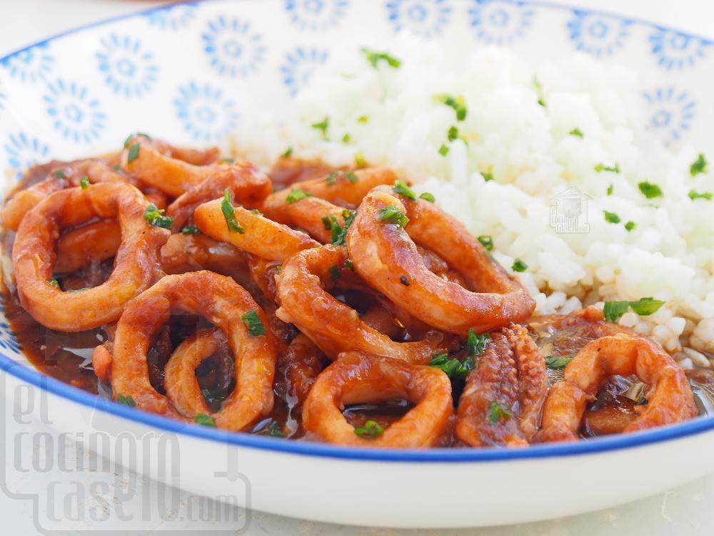 Calamares en salsa americana - Paso 7