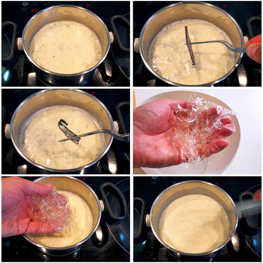 Panna cotta con coulis de frambuesa - Paso 3