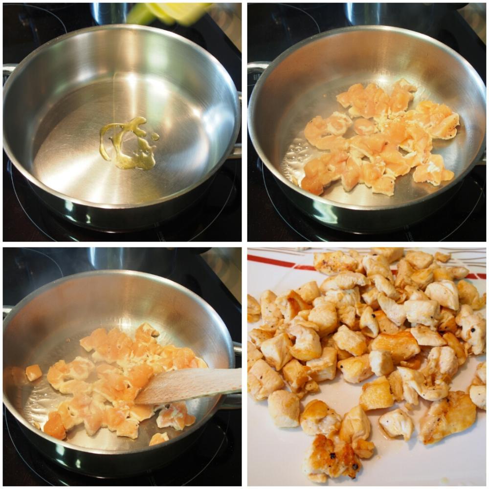 Fideos con pollo - Paso 2