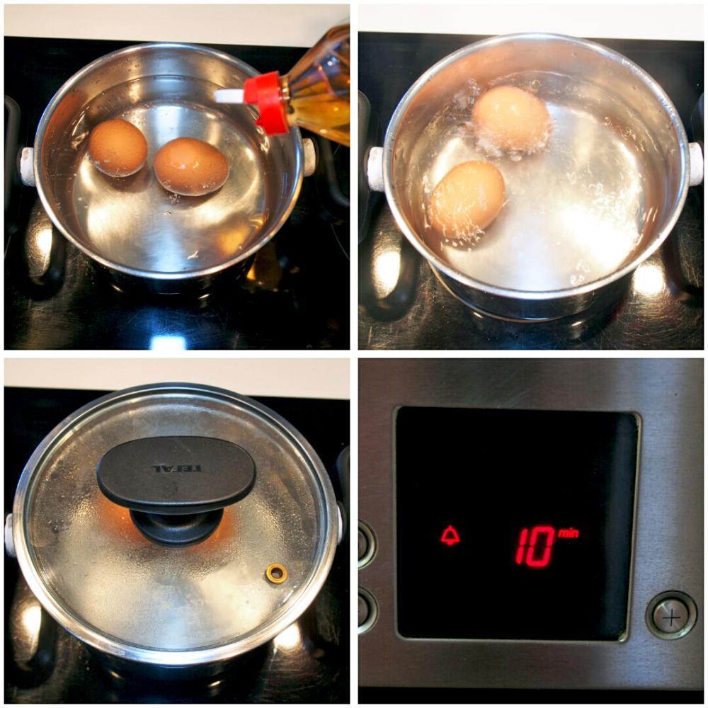 Tiempo de cocción de un huevo duro perfecto - Paso 2