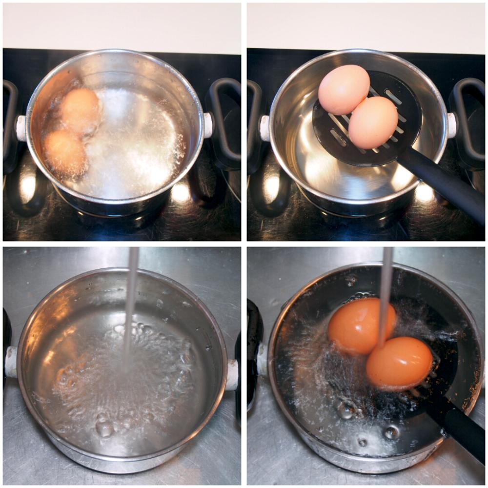Tiempo de cocción de un huevo duro perfecto - Paso 3