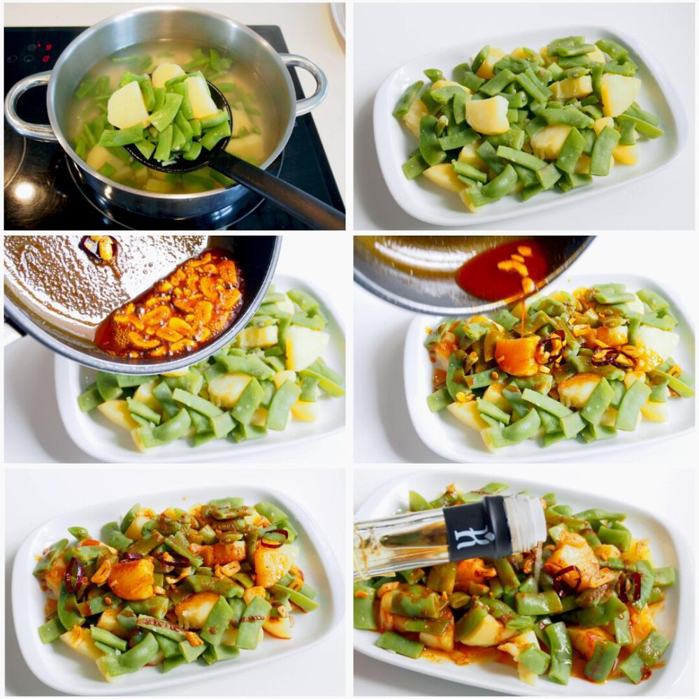 Judías verdes con patatas - Paso 5