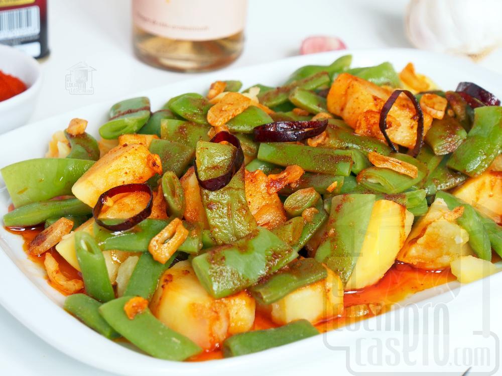 Judías verdes con patatas - Paso 6