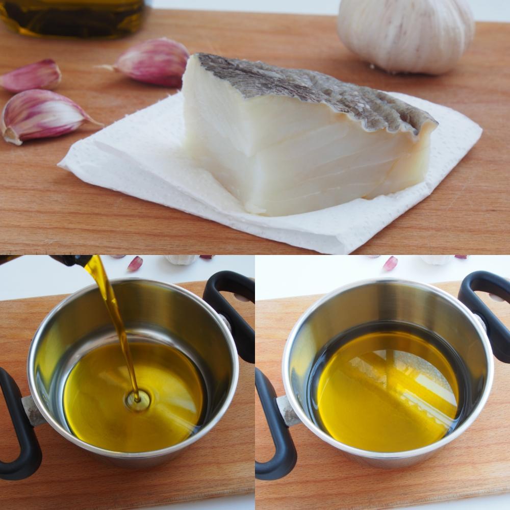 Cómo hacer bacalao confitado - Paso 1