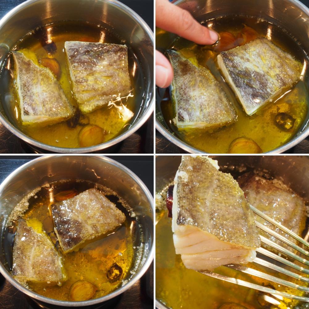 Cómo hacer bacalao confitado - Paso 3